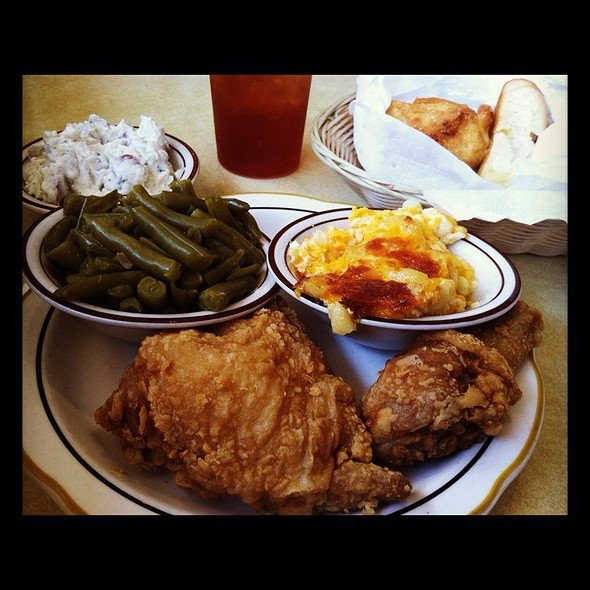 Fried Chicken at Cowling's BBQ