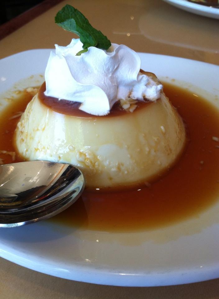 Deliciously creamy flan!
